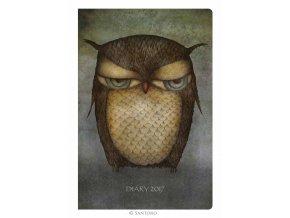 Santoro - kapesní diář Grumpy Owl 2017