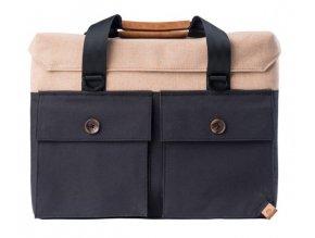 PKG taška DRI Slim Briefcase - černá/béžová
