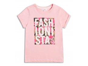 Sugar Squad dívčí tričko FASHIONISTA růžové