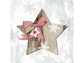PPD - papírové ubrousky Hvězda dřevěná vánoční