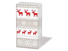 PPD kapesníčky Kouzelné Vánoce béžové