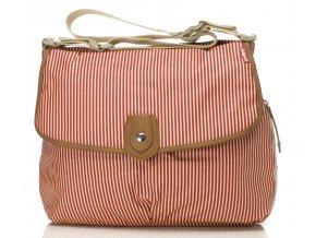 Babymel - přebalovací taška Satchel červený proužek