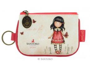 SANTORO - malá peněženka TIME TO FLY