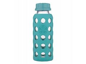 Lifefactory skleněná dětská láhev 250ml Kale