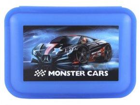 Monster cars svačinový box modrý