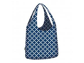 ECOZZ nákupní taška Little Big Bag Blue Squares