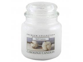 Carolina Candles svíčka ve skle Měkká bavlna 425 g