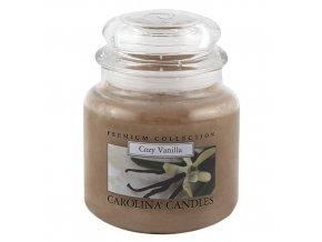 Carolina Candles svíčka ve skle Vanilka 425 g