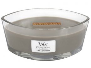 WoodWick - vonná svíčka ve skle písek a naplavené dříví 453,6 g