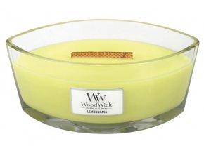 WoodWick - vonná svíčka ve skle citronová tráva a lilie 453,6 g