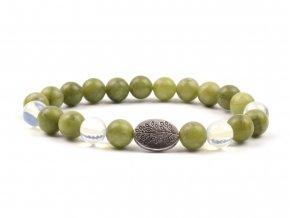 Moni - dámský náramek jadeit taiwanský opalit