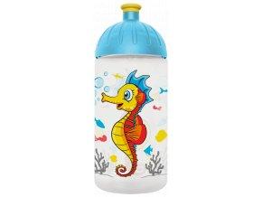 FreeWater plastová lahev 0,5l Mořský koník transparentní