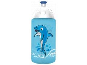FreeWater plastová lahev 0,5l Delfín tyrkysová