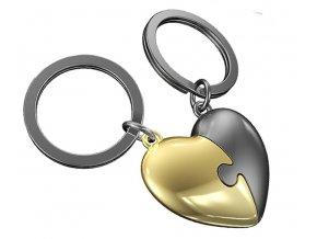 MTM - přívěsky na klíče Srdce puzzle