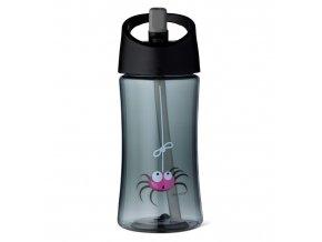 Carl Oscar dětská lahev 350 ml šedá pavouk