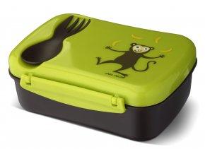 Carl Oscar dětský svačinový box limetkový opička