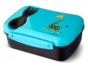 Carl Oscar dětský svačinový box tyrkysový žirafa