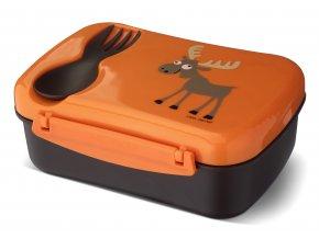 Carl Oscar dětský svačinový box oranžový los