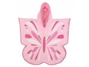 LittleLife dětský plážový ručník Ultralight Poncho Towels Butterfly
