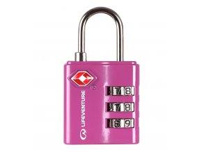 LifeVenture - zámek TSA Combination Lock pink