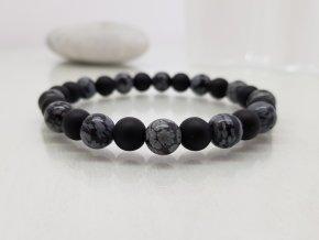 Moni - pánský náramek onyx obsidián