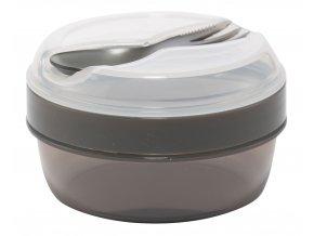 Carl Oscar svačinový box N'ice Cup s chladící vložkou šedý
