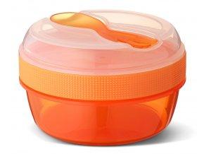 Carl Oscar svačinový box N'ice Cup s chladící vložkou oranžový