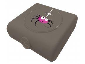 Carl Oscar dětský svačinový sandwich box šedý pavouk