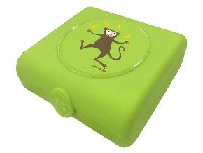 Carl Oscar dětský svačinový sandwich box limetkový opička