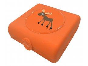 Carl Oscar dětský svačinový sandwich box oranžový los
