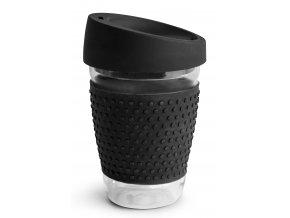 Sagaform skleněný hrnek TO GO 300 ml černý