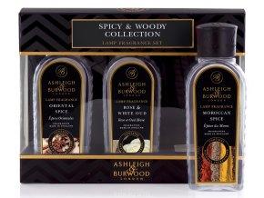 Ashleigh & Burwood - náplň do katalytické lampy - dárkový set SPICY WOODY COLLECTION
