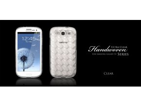MORE Handwoven Collection Clear - kryt pro Samsung Galaxy S3