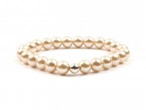 dámský náramek voskované perly smetanové
