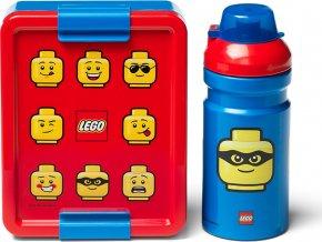 LEGO ICONIC Classic svačinový set červená/modrá