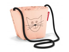 Reisenthel dětská taška přes rameno Minibag Kids cats and dogs rose