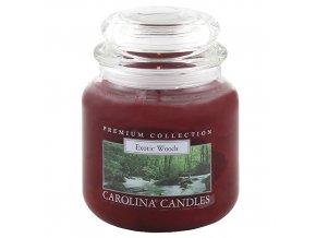 Carolina Candles svíčka ve skle exotické dřevo 425 g