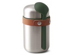 BLACK-BLUM termoska na jídlo Food Flask 400ml olivová
