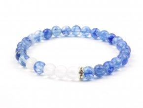Moni - dámský náramek modrý křemen křišťál matný