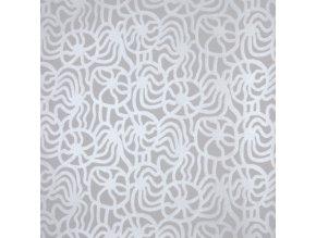 Marimekko - tapeta Joonas mini bílo-stříbrná
