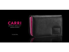 MORE Carri Zipper Wallet (Pink) - kryt na iPhone 5