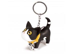 MTM - Kroužek na klíče – kočička černá