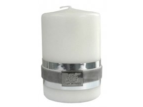 Lene Bjerre - svíčka Basic bílá 9 cm