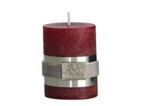 Lene Bjerre - svíčka Rustic  - červená 6 cm