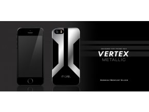 MORE Vertex Metallic kryt pro iPhone 5/5S (Herman/ Mercury Silver)