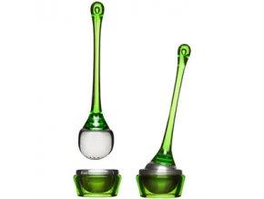 Sagaform - Čajové sítko s miskou Tea Strainer, zelené