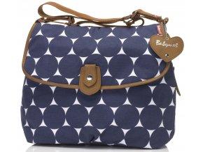 Babymel - přebalovací taška Satchel Jumbo Dot Navy