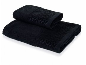 Möve - ručník Black and White černý