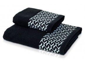 Möve - ručník Black and White černo-bílý