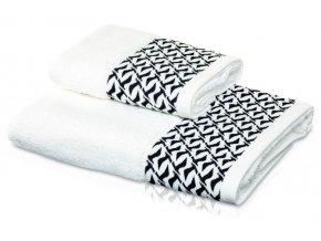 Möve - ručník Black and White bílo-černý